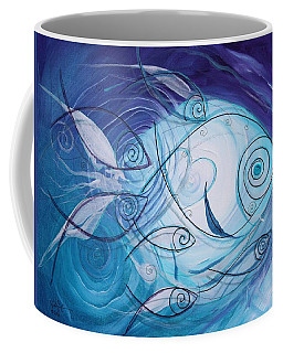 Seven Ichthus And A Heart Coffee Mug