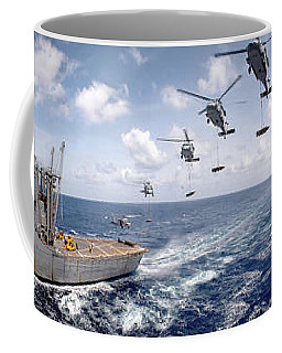 Sh-60 Helicopters Transfer Ammunition Coffee Mug