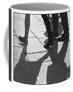 Coffee Mug featuring the photograph Shadow People by Victoria Harrington