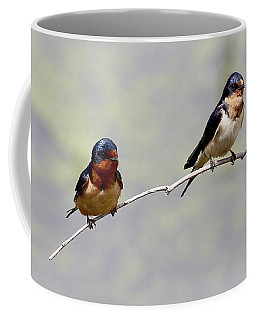 Coffee Mug featuring the photograph Sharing A Branch by Elizabeth Winter