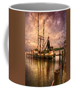 Shrimp Boat At Sunset II Coffee Mug