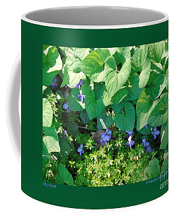 Shy Violets Coffee Mug by Patricia Overmoyer