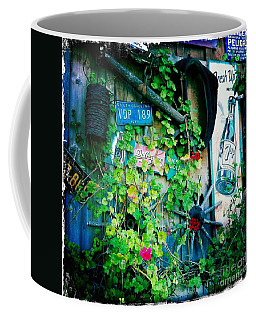 Coffee Mug featuring the photograph Sign Wall by Nina Prommer