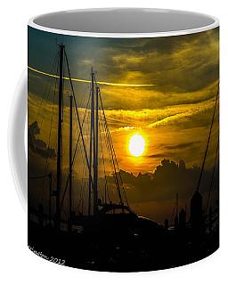 Silhouettes At The Marina Coffee Mug