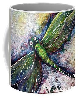 Silver Dragonfly Coffee Mug