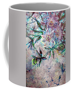 Coffee Mug featuring the painting Silver Passions by Ashley Kujan