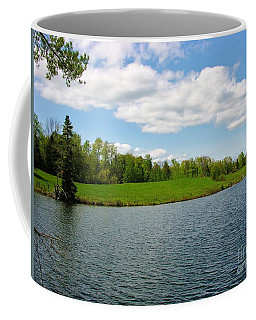 Coffee Mug featuring the photograph Sky And Water Almost Meet by Sherman Perry