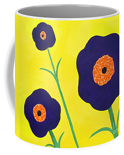 Coffee Mug featuring the painting Sky High Flowers by Alys Caviness-Gober