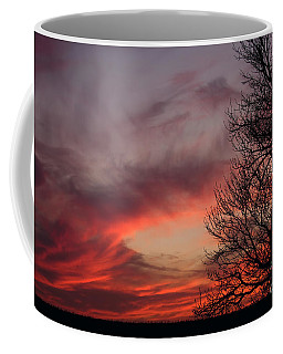 Coffee Mug featuring the photograph Sky On Fire by Art Whitton