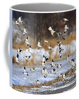 Snow Buntings Coffee Mug