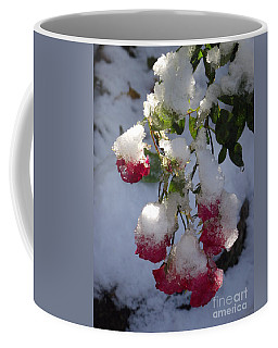 Snow Covered Roses Coffee Mug