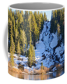 Snowy Heart Falls Coffee Mug by Lynn Bauer