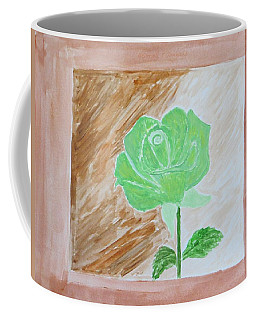 Coffee Mug featuring the painting Solitary Rose by Sonali Gangane