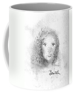 Coffee Mug featuring the drawing Something About Mary by Laurie Lundquist