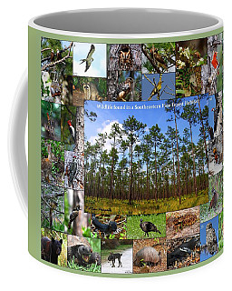Southeastern Pine Forest Wildlife Poster Coffee Mug