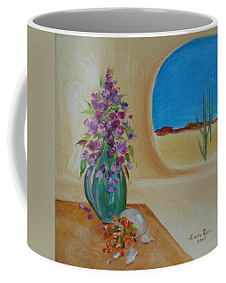 Coffee Mug featuring the painting Southwestern 3 by Judith Rhue