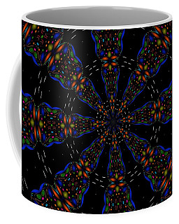 Coffee Mug featuring the digital art Space Flower by Alec Drake