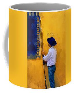 Spanish Man At The Yellow Wall. Impressionism Coffee Mug