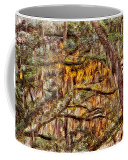 Spanish Moss And Sunset Coffee Mug