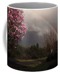 Spring Rainbow Coffee Mug by Katie Wing Vigil