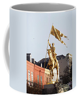 Coffee Mug featuring the photograph St. Joan At Dawn by Alys Caviness-Gober
