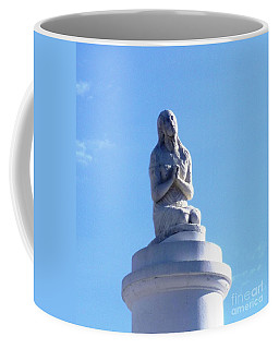 Coffee Mug featuring the photograph St. Louis Cemetery Statue 1 by Alys Caviness-Gober