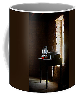 Coffee Mug featuring the photograph Standing In The Shadow Of Time by Vicki Pelham