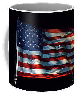 Stars And Stripes At Night Coffee Mug by Kevin Fortier