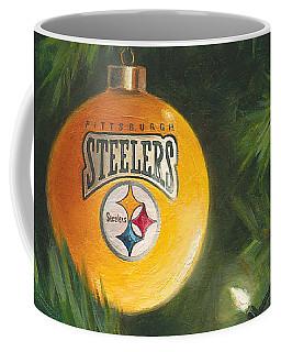 Coffee Mug featuring the painting Steelers Ornament by Joe Winkler