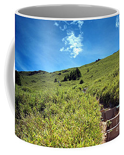 Coffee Mug featuring the photograph Steep Path To The Top Of A Mountain by Yali Shi