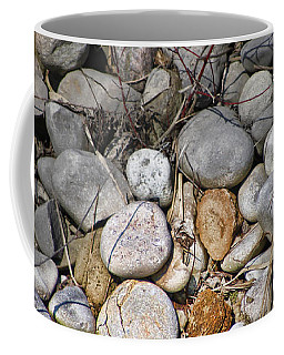 Sticks And Stones Can Hurt Coffee Mug by Cathy  Beharriell