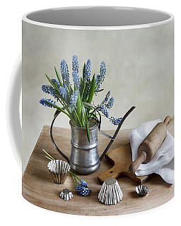Still Life With Grape Hyacinths Coffee Mug