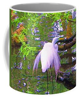 Great Egret Bird In Water  Coffee Mug