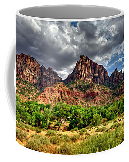 Storm Brewing In Desert Coffee Mug