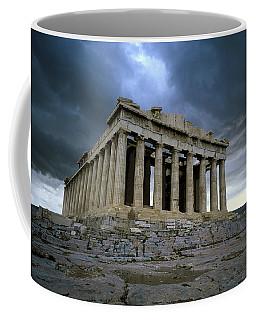 Storm Over The Parthenon Coffee Mug