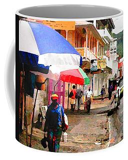 Street Scene In Rosea Dominica Filtered Coffee Mug