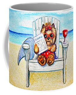 Sudoku At The Beach Coffee Mug