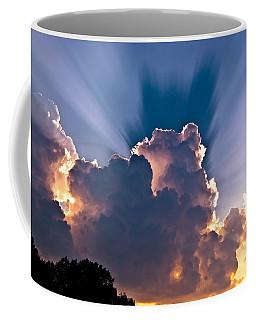 Sun Rays And Clouds Coffee Mug