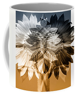 Sunflower Abstract Coffee Mug