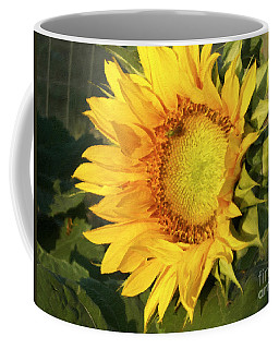 Coffee Mug featuring the digital art Sunflower Digital Art by Deniece Platt