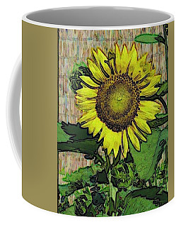 Coffee Mug featuring the photograph Sunflower Face by Alec Drake