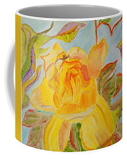 Sunlit Rose Coffee Mug by Meryl Goudey