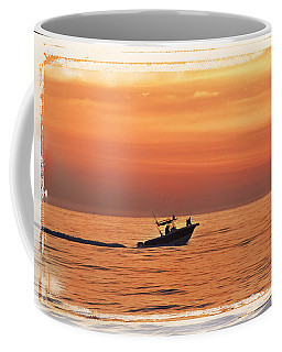 Coffee Mug featuring the photograph Sunrise Boat Ride by Janie Johnson