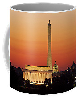 Coffee Mug featuring the photograph Sunrise Over Washington Dc by Brian Jannsen