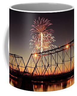 Sunset And Fireworks Coffee Mug