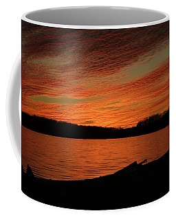 Sunset And Kayak Coffee Mug