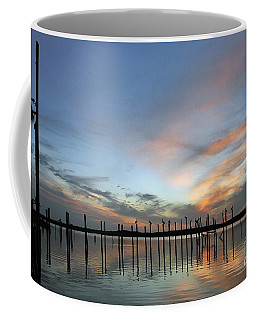 Coffee Mug featuring the photograph sunset marina Everglades by Dan Friend