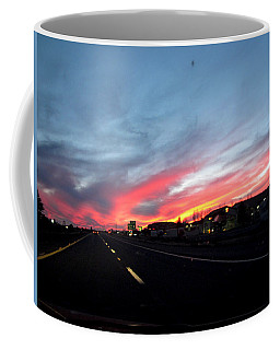 Sunset On Route 66 Coffee Mug