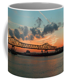 Sunset On The Mississippi  Coffee Mug by Lydia Holly