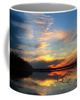 Sunset Over Calm Lake Coffee Mug